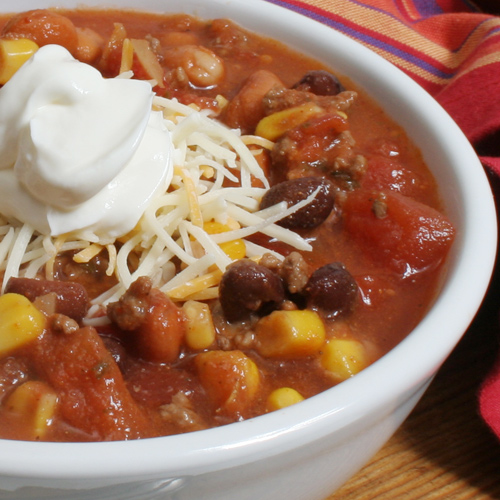Raise your hand if you've never eaten taco soup?