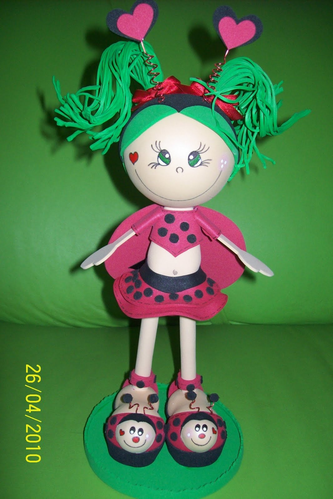 Bonecas 3D Bichinhos De EVA