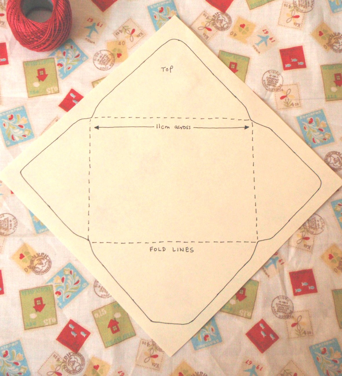 Оригинальный конверт для письма своими руками