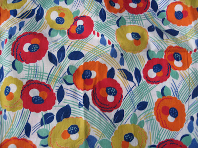 1930 1940fashion on 1940 S Bloomsbury Style Floral Fabric  Love It