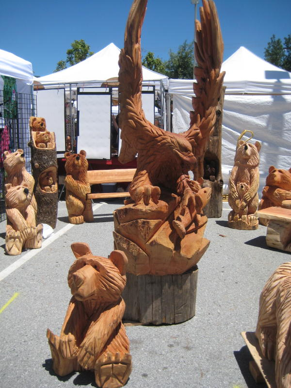 Northern california angora guild wood carved products at