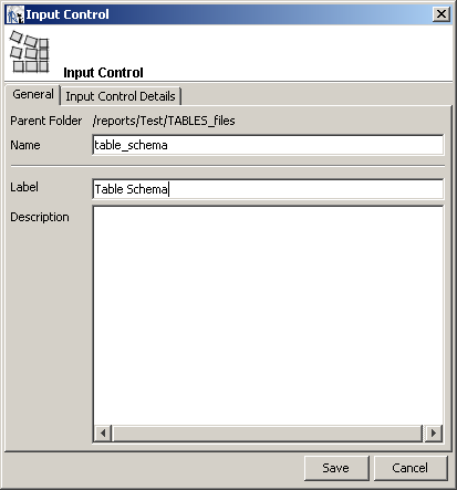 jasper reports enter input control name