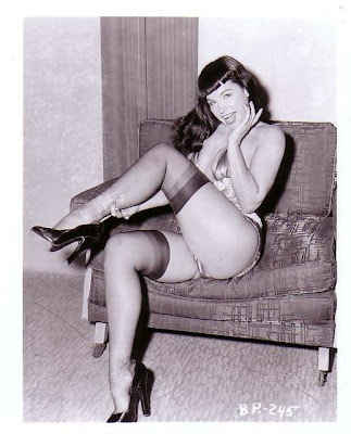 One of the most popular and copied pin-up queens, Bettie Page, has passed.