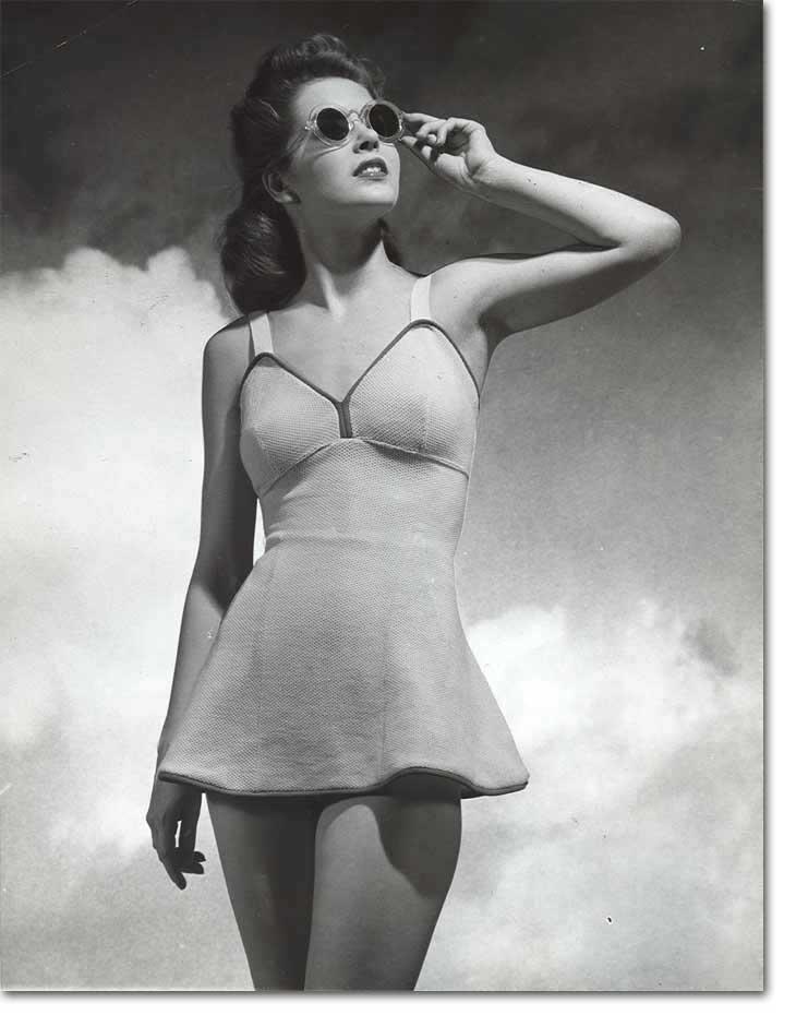 фото - купальник с юбкой 1940