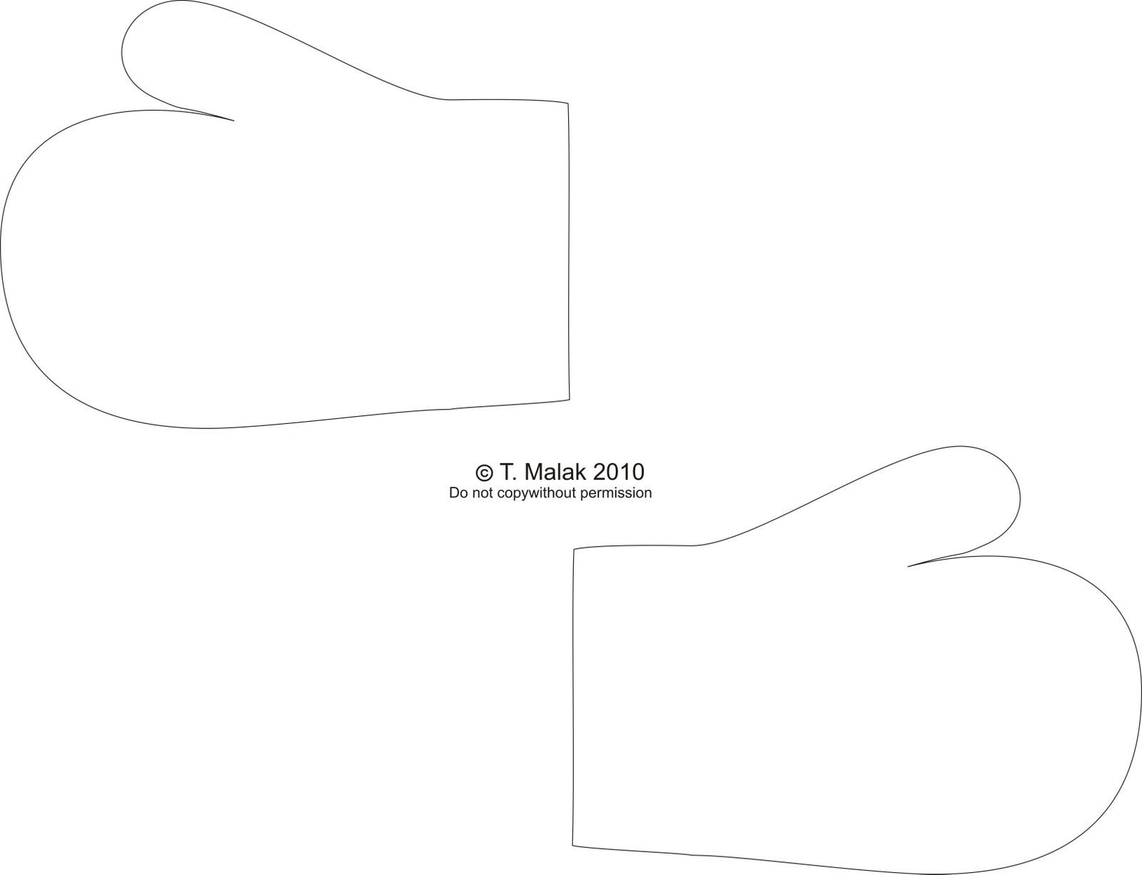 mitten card template
