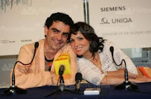 Anna and Rolando at the pressconference of La Traviata on 03rd August 2005 at salzburg