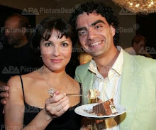 Anna and Rolando at Salzburg on 06th Aug. 06 in the course of a reception of their recording label