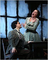 Anna and Rolando during performing a part of La Bohme at the Met&#39;s 40th anniversary gala 07
