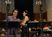"Anna and Rolando during the recording of ""Duets"" at Dresden in August 2006"