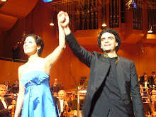 Anna and Rolando at one of their performances of La Bohème in Munich in April 2007