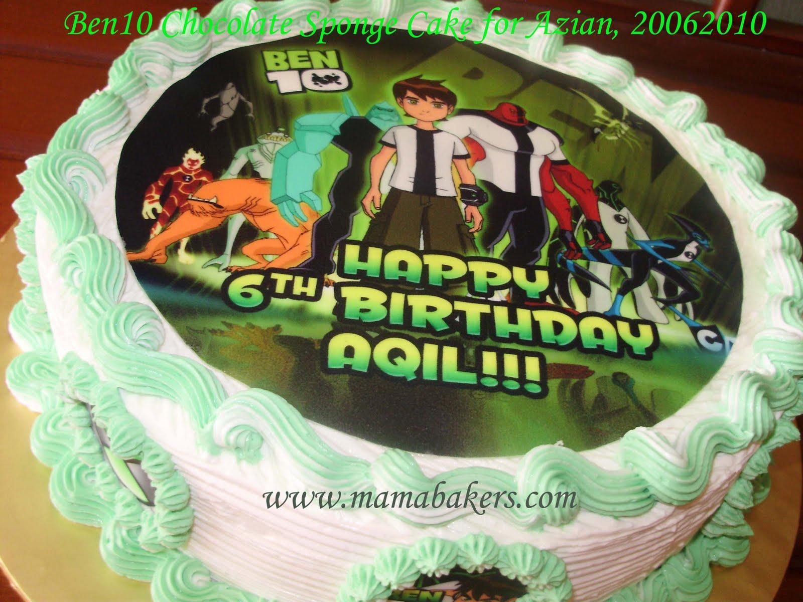 Singgah Ler Ke Mamabakers Ben 10 Cake For Aqil