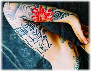Right Arm with Character Japanese Tattoos