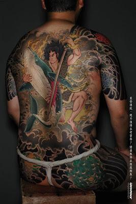 Yakuza Japanese Tattoo Style in Greenpeace