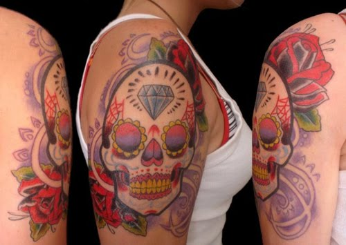 tattoos of skulls and flowers. Skull Tattoos With Flowers. Skull Tattoos : Sugar skull; Skull Tattoos : Sugar skull. fullmanfullninj. Apr 30, 12:30 AM