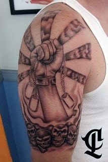 tribal tattoo, cross tattoo