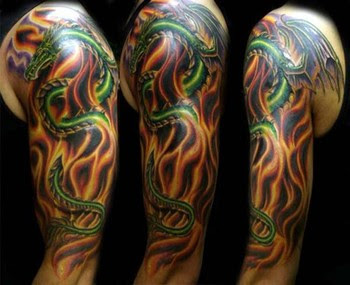 sleeve tattoo, Dragon Tattoo, japanese tattoo, Polynesian tattoo
