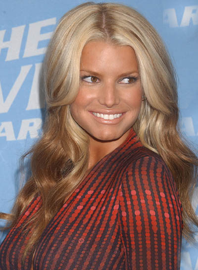 My inspiration was this photo I found of Jessica Simpson which ...