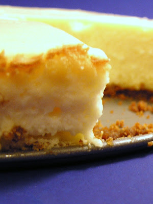 Cast Sugar: Eggnog Cheesecake with Caramel-Rum Sauce