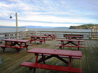 Image of picnic tables Coupeville pier