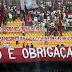 A torcida do Flamengo e o presidente Marcio Braga.