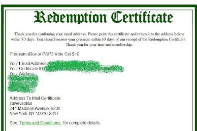 MyInsiderDeals Redemption Certificate