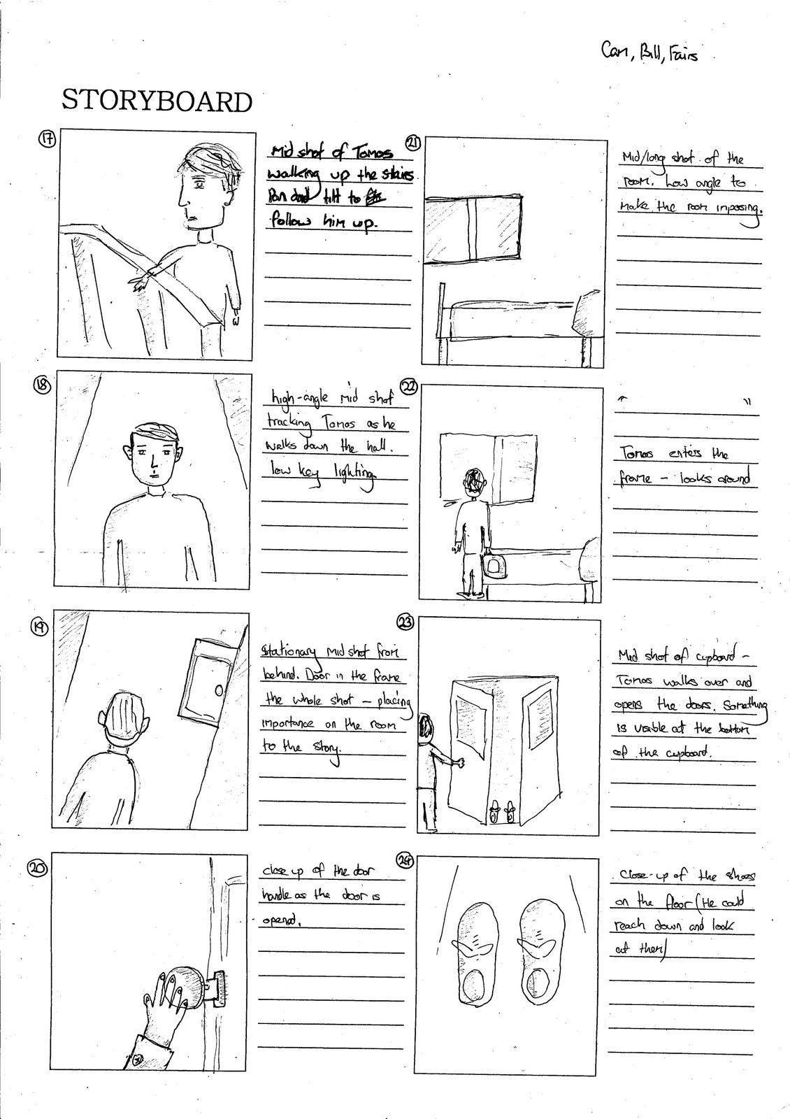 Billyholmesmedia Storyboard Shot List Lighting Diagram Low Key Bjh Cmv Cf