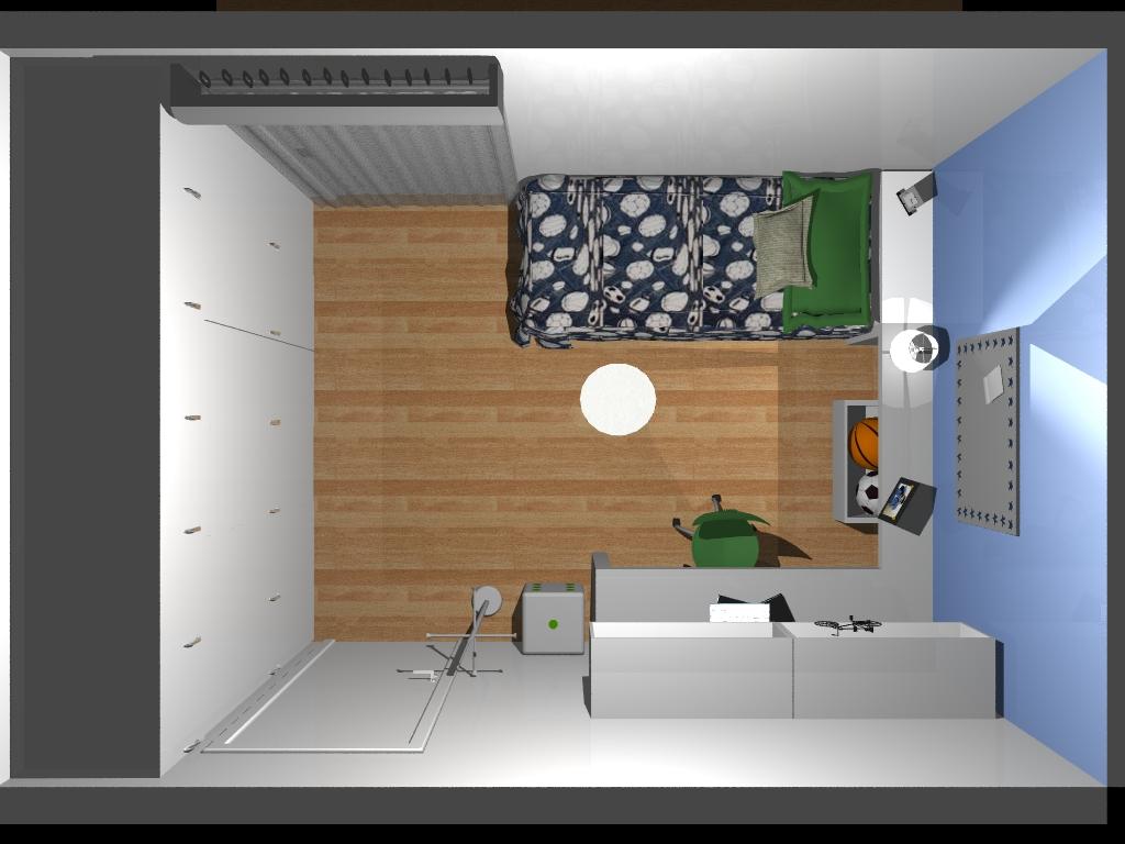 Nos quartos dos meninos usamos temas para fazer a decoração Quarto  #2C549F 1024 768