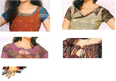Salwar Neck model with patch and rope work   Fashion Designing