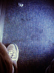 Foot on a floor on a train