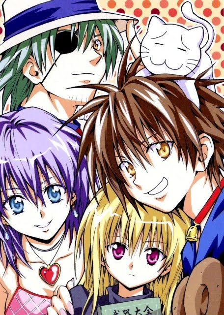 les mascottes dans les mangas ! - Page 2 Black-cat-manga-main-characters