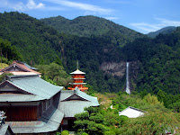 Panorama with 那智滝 (Tachi waterfalls) at 熊野古道 (Kumano Kodo)