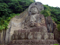 31m-tall statue of Buddha at 鋸山 (Mount Nokogiri)
