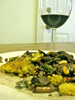 wine polenta mushrooms