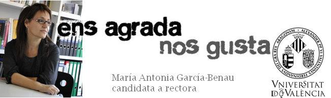 María Antonia García-Benau, canditata a rectora de la Universitat de València el 2 de marzo de 2010