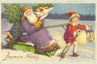 Fransk julklappsleverans