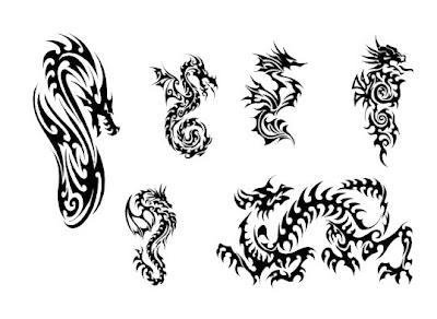 Tribal Tattoo Dragon, Art Tattoo, Design Tattoo, Pictures Tattoo, Gallery Tattoo, Dragon Tattoo Tribal