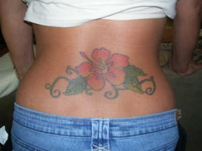 star tattoo lower back. Cute star tattoo on side body