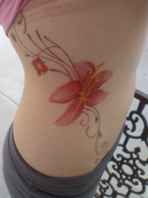 flower rib tattoos