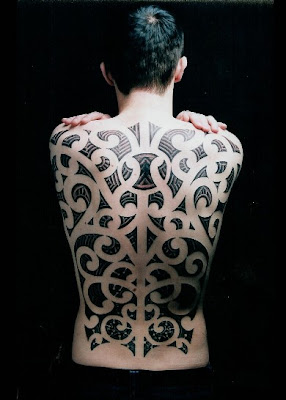 full back tattoo Tribal, Art on body design