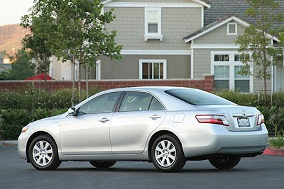 Toyota Camry Hybrid New Car Inside