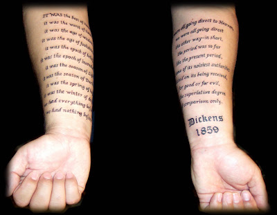 text tattoo, arm tattoo, art and design tattoo