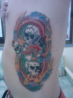 tattoo skull design color tattoo, art tattoo, body tattoo, popular tattoo
