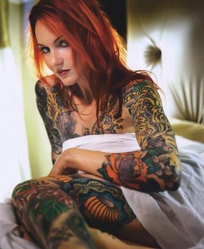 full body tattoo female