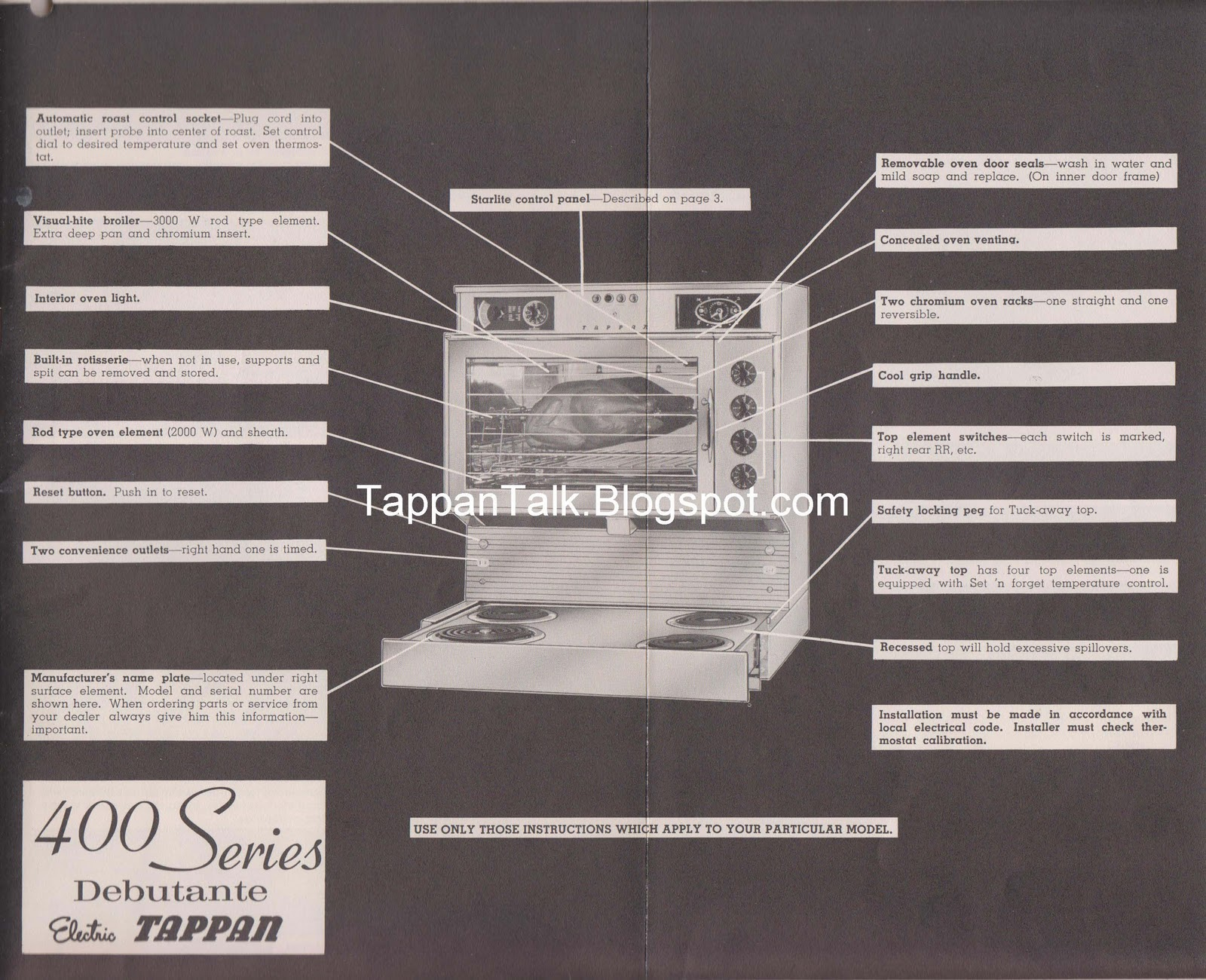 Old Tappan 400 Stove Oven Wiring Diagram Guide And Troubleshooting Jenn Air Top Talk Fabulous Rh Tappantalk Blogspot Com Magic Chef