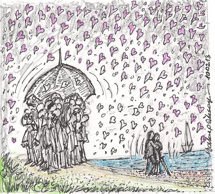 14 Şubat SEVGİ'liler Günü..yağmur gibi hergün olsun..ŞEMSİYE olmasın..