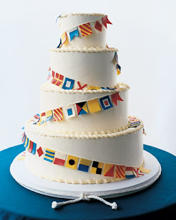 Nautical by Nature blog: Nautical Wedding Cakes