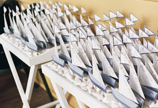 nautical wedding favors and place cards