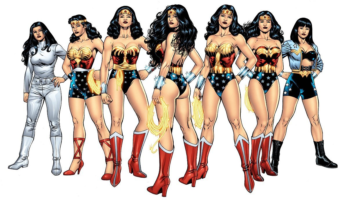 wonder woman naked cartoon