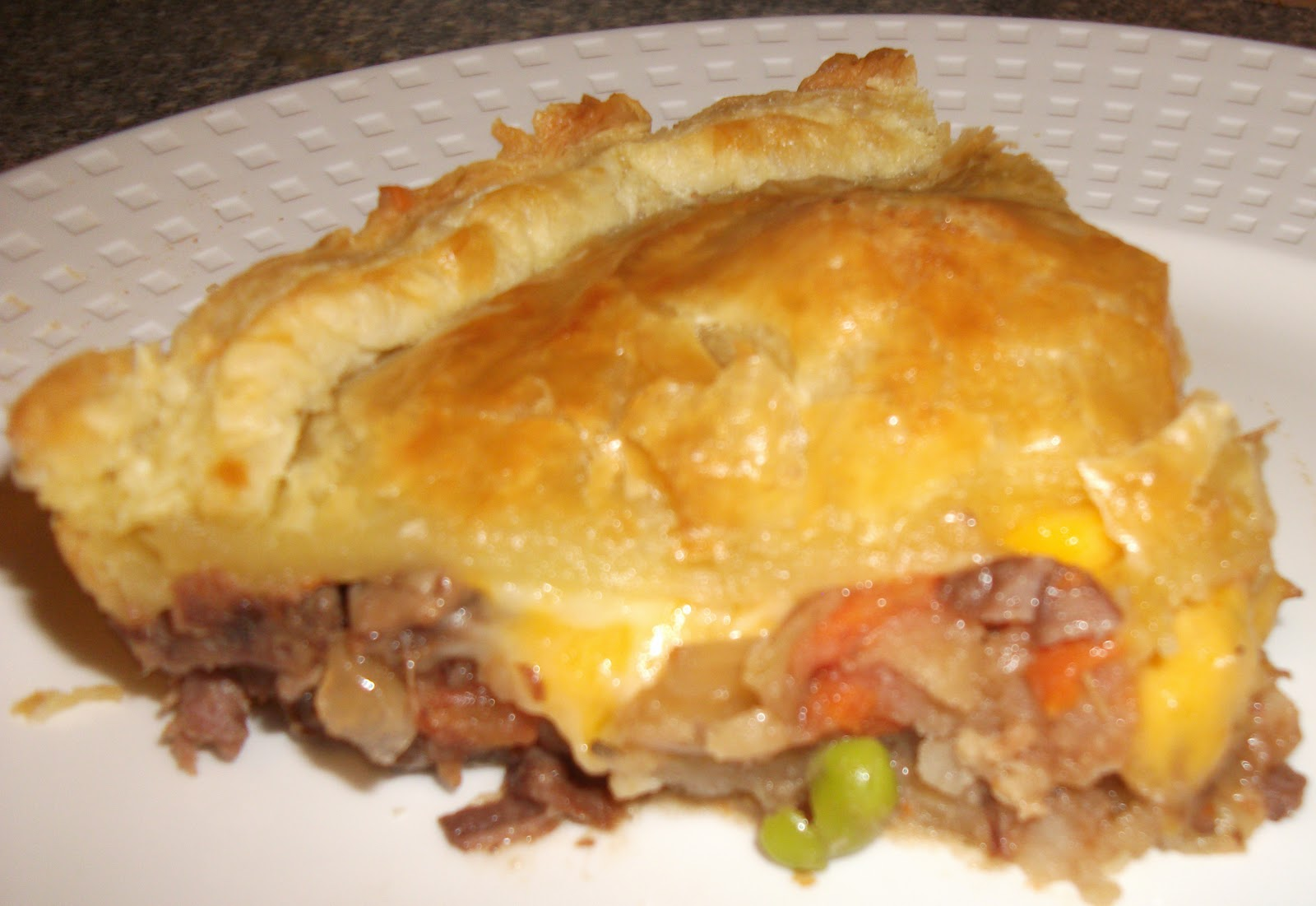 ... croutons meat pie three meat lasagna tasty meat pie recipe dishmaps