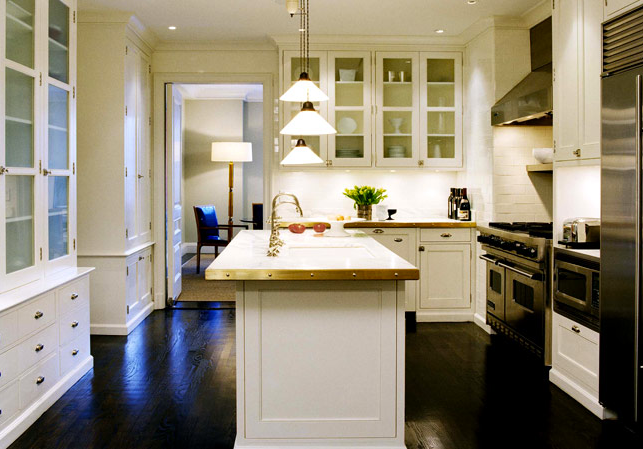 Preppy Player White Kitchen Dark Floor